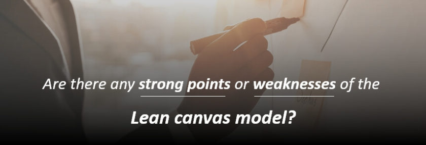 weaknesses of the Lean canvas model