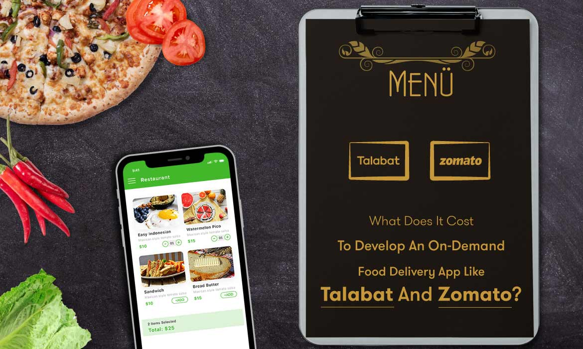 on-demand food delivery app development cost