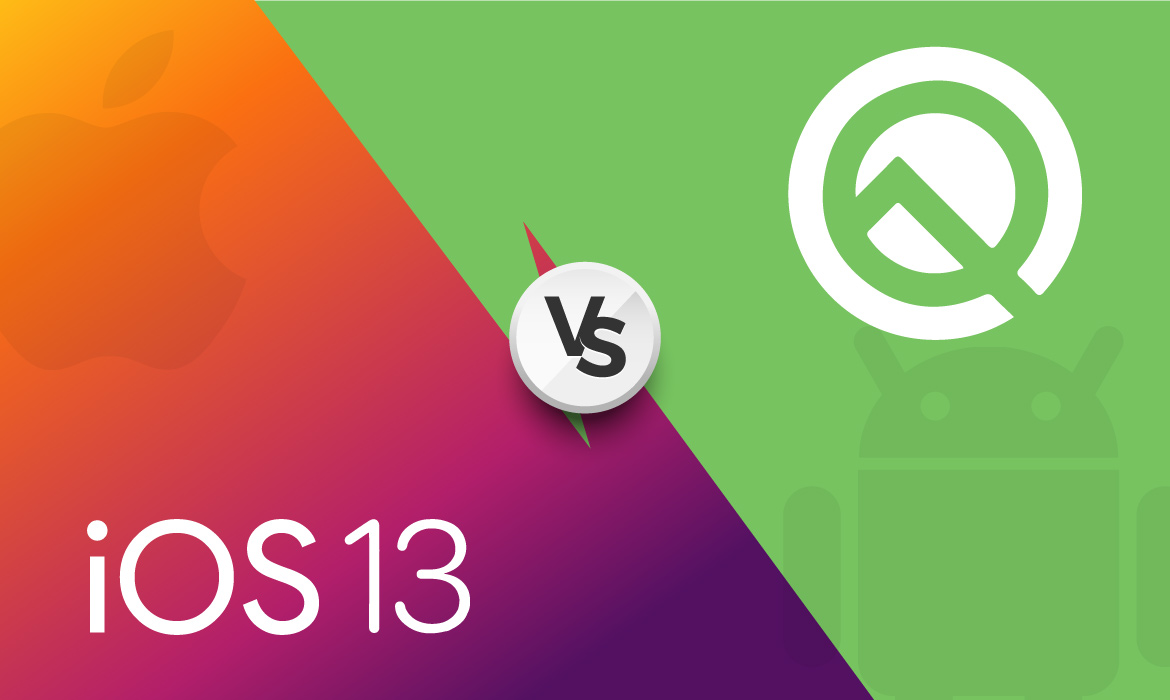 iOS 13 vs Android Q Comparison