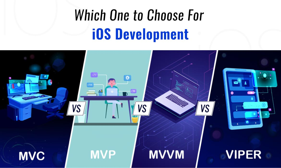 difference between MVP, MVC, MVVM and VIPER