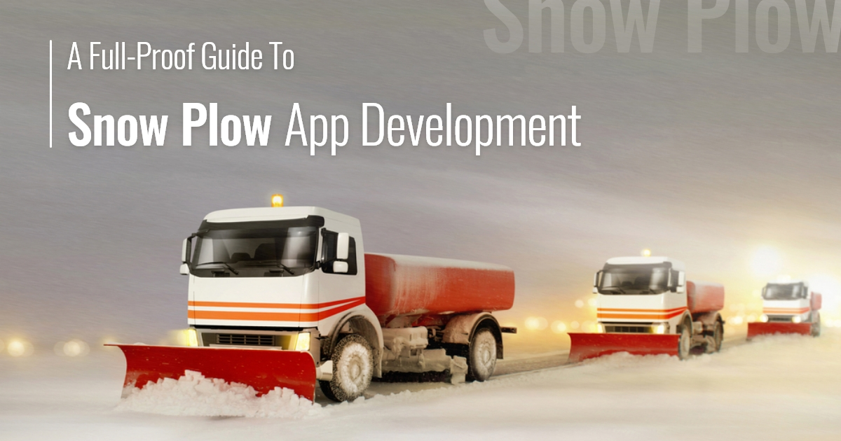 Snow Plow App Development Company