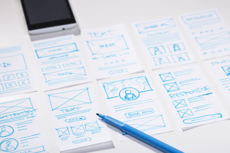difference between wireframe, mockups and prototypes